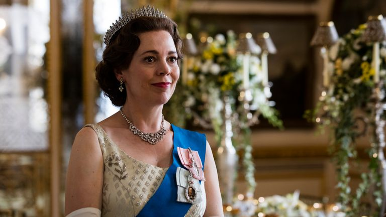 Olivia Colman as the Queen in The Crown. Pic: Sophie Mutevelian/ Netflix