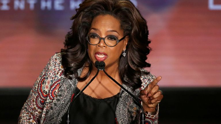 Oprah Winfrey takes part in the Women In The World Summit in New York City, U.S., April 10, 2019.