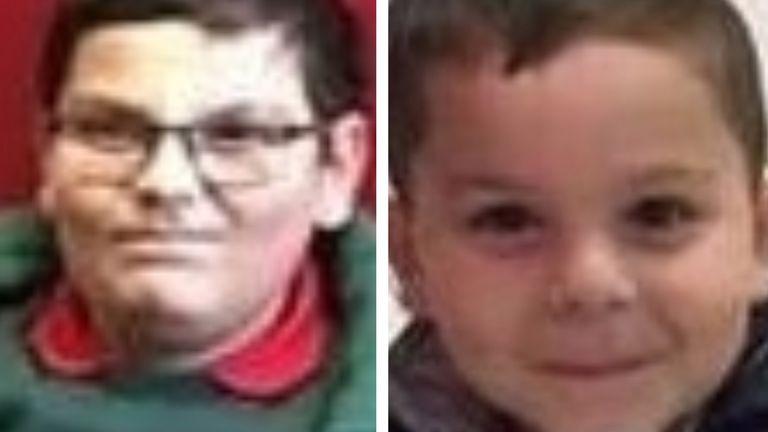 Fabricio Hovarth, aged 8 (l), and Patrick , 5. Pic: PSNI