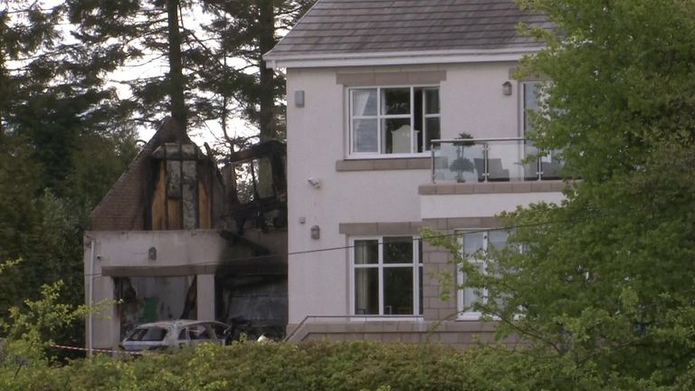 Peter Lawwell's house following an explosion and fire