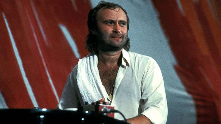Phil Collins performed at Live Aid in Philadelphia in the 1980s