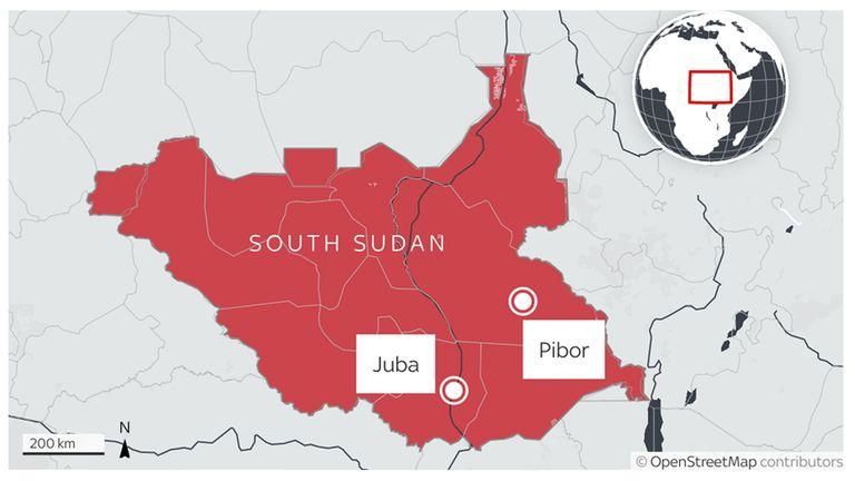 Pibor is in South Sudan