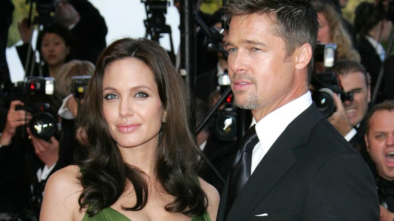 Angelina Jolie and Brad Pitt, pictured in 2008. Pic: AP