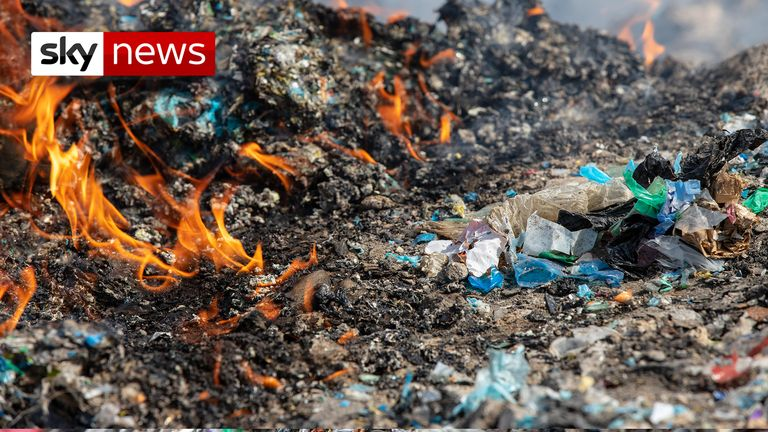 Plastic from UK  being dumped and burned in Turkey