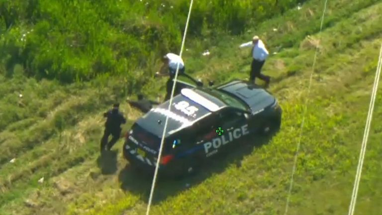 A man was arrested in Volusia County, Florida, on Thursday, May 6, after he took off in not one, but two police cars during an extended pursuit.