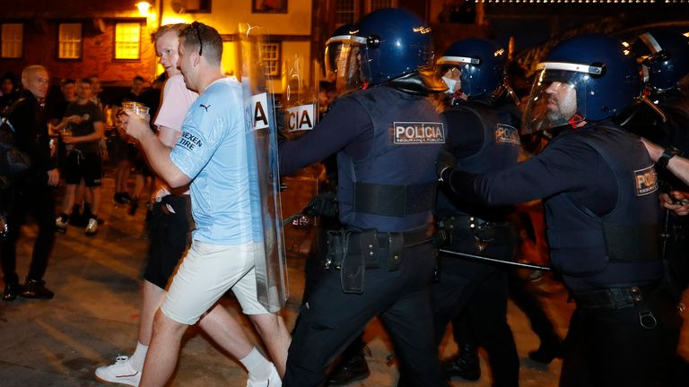 Relations between rival supporters remained mostly good-natured throughout the day but police had to intervene on at least two occasions to prevent a fight breaking out