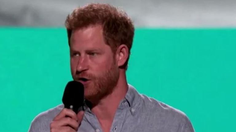 Prince Harry appeared in person at the show