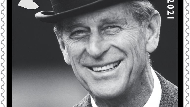 Undated handout image issued by Royal Mail of a stamp with a photograph of the Duke of Edinburgh at the Royal Windsor Horse Show. The Royal Mail are issuing four new stamps in memory of HRH The Prince Phillip, Duke of Edinburgh who died on April 9 this year.