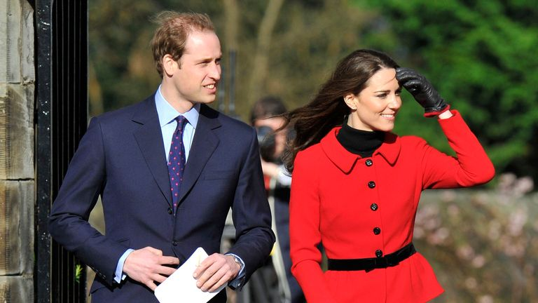 Prince William and Kate, after their engagement, revisited the University of St Andrews