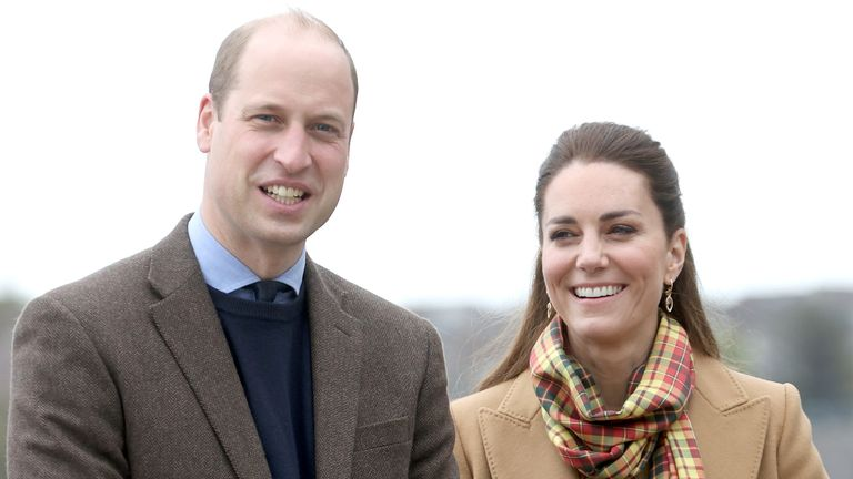 Prince William, Duke of Cambridge and Catherine, Duchess of Cambridge arrive to officially open The Balfour, Orkney Hospital in Kirkwall, Scotland, Britain May 25, 2021. Chris Jackson/Pool via REUTERS
