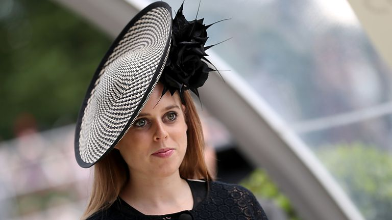 Princess Beatrice of York during day three of Royal Ascot at Ascot Racecourse. PRESS ASSOCIATION Photo. Picture date: Thursday June 21, 2018. See PA story RACING Ascot. Photo credit should read: Steve Parsons/PA Wire. RESTRICTIONS: Use subject to restrictions. Editorial use only, no commercial or promotional use. No private sales.