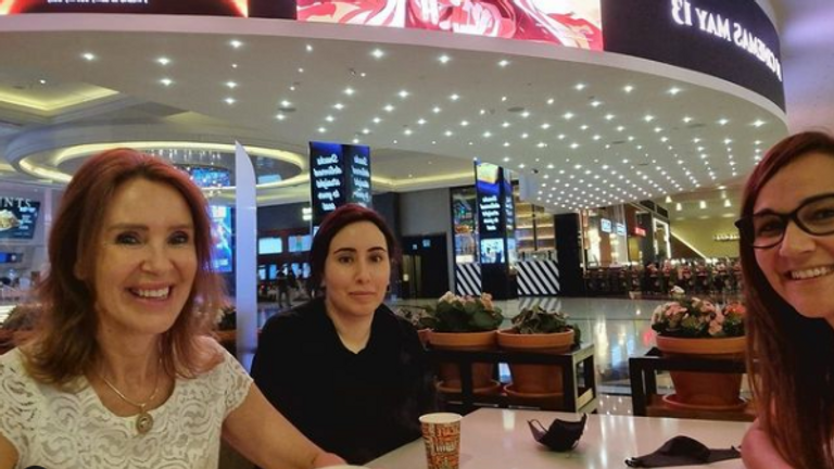The picture appears to have been taken at the Mall of the Emirates in Dubai. Pic: Instagram/ lyndabouchikhi