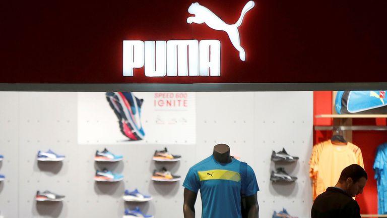 A customer visits a store of Puma sportswear company at Tbilisi Mall in Tbilisi, Georgia, April 22, 2016.