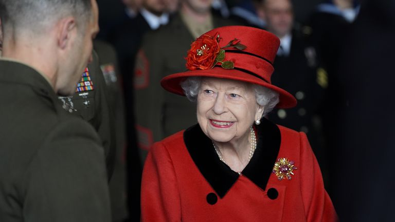 The Queen spoke to military personnel onboard HMS Queen Elizabeth before they deployed to the Indo-Pacific