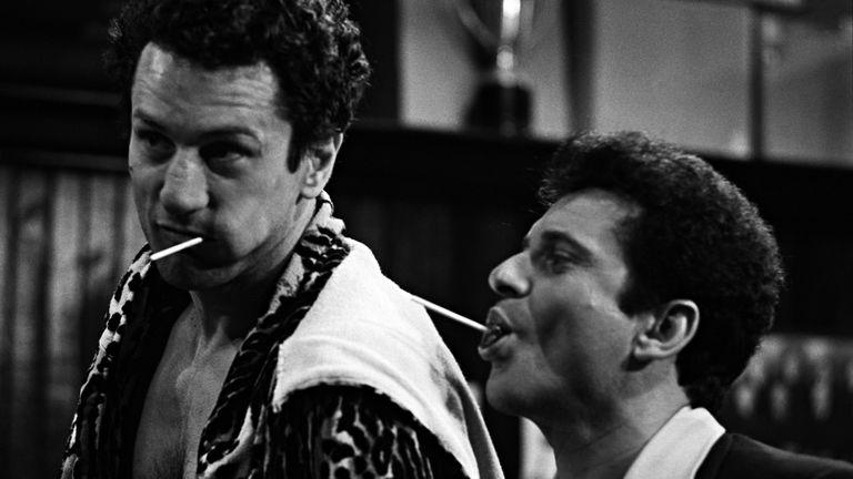 Robert De Niro and Joe Pesci in Raging Bull. Pic: Brian Hamill courtesy of Coattail Publications