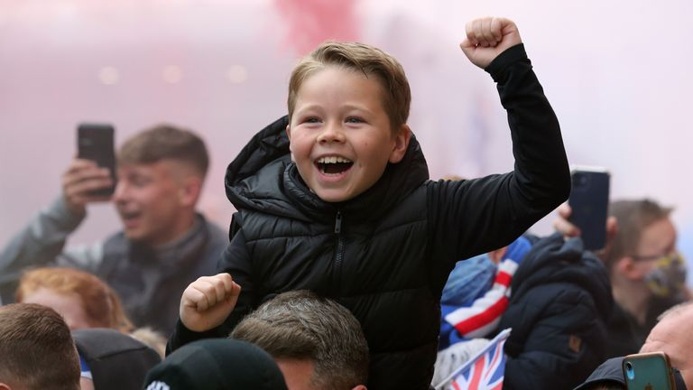 It's Rangers first Scottish league title in 10 years