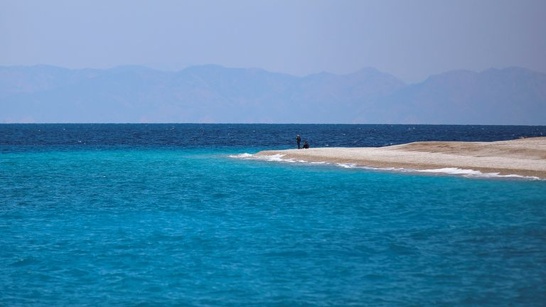 The Greek island of Rhodes is not included with Greece on the amber list, according to Foreign Office advice