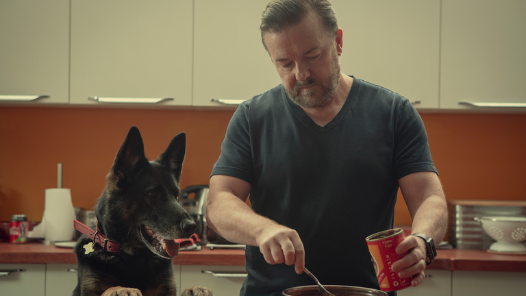 Ricky Gervais created After Life, which streams on Netflix. Pic: Natalie Seery