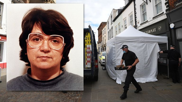 "Police activity at The Clean Plate cafe in Southgate Street, Gloucester where excavation work is to begin after police found ""possible evidence"" of where a suspected teenage victim of serial killer Fred West may be buried. Forensic archaeologists have been undertaking exploratory work in connection with the disappearance of 15-year-old Mary Bastholm who was last seen alive in January 1968. Picture date: Tuesday May 18, 2021."