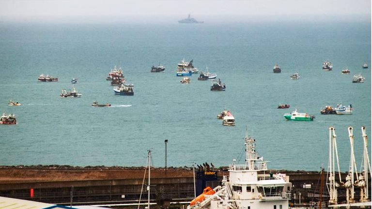 Two Royal Navy ships have been sent to protect Jersey from a blockade by French fishing vessels. Pic: Michael Bewley