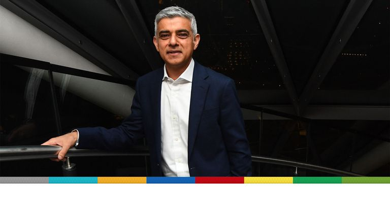 Sadiq Khan arriving at City Hall for the declaration for the next Mayor of London
