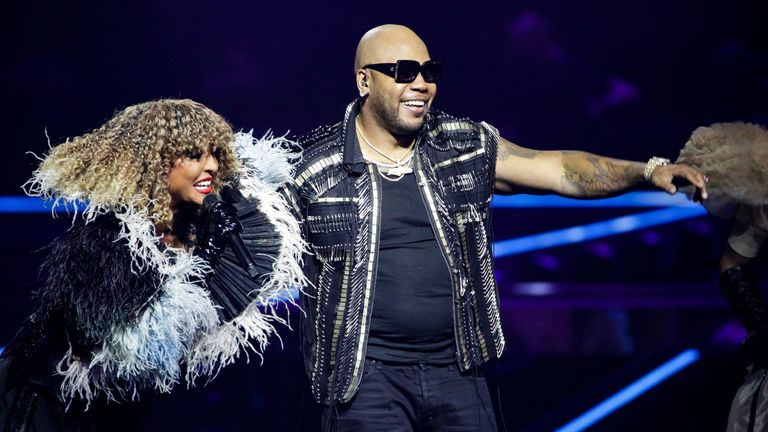 Flo Rida - the US rapper - will appear on stage for San Marino. Pic: EBU/ Thomas Hanses