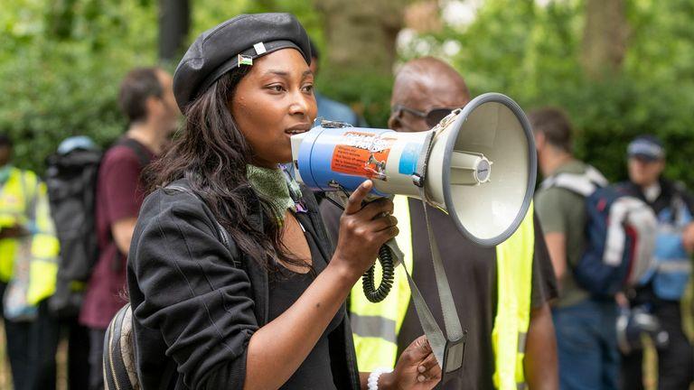 Sasha Johnson during a Black Lives Matter protest in London in June 2020. Pic: Maja Smiejkowska/Shutterstock