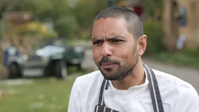 Pastry chef Waheed Seria, 42, works in a hotel in Somerset