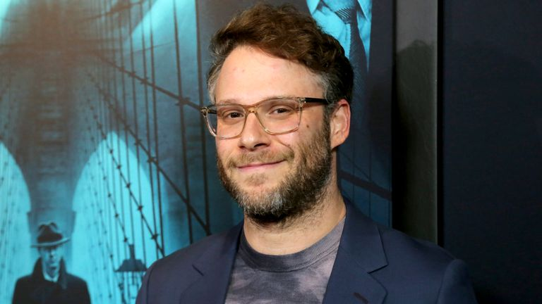 """Seth Rogen attends the LA Premiere of """"Motherless Brooklyn"""" at the Hollywood American Legion Post 43 on Monday, Oct. 28, 2019, in Los Angeles. (Photo by Willy Sanjuan/Invision/AP)"""