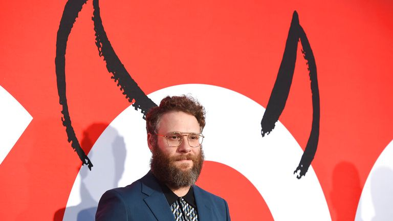 """Seth Rogen arrives at the premiere of """"Good Boys"""" on Wednesday, Aug. 14, 2019, at the Regency Village Theatre in Los Angeles. (Photo by Chris Pizzello/Invision/AP)"""