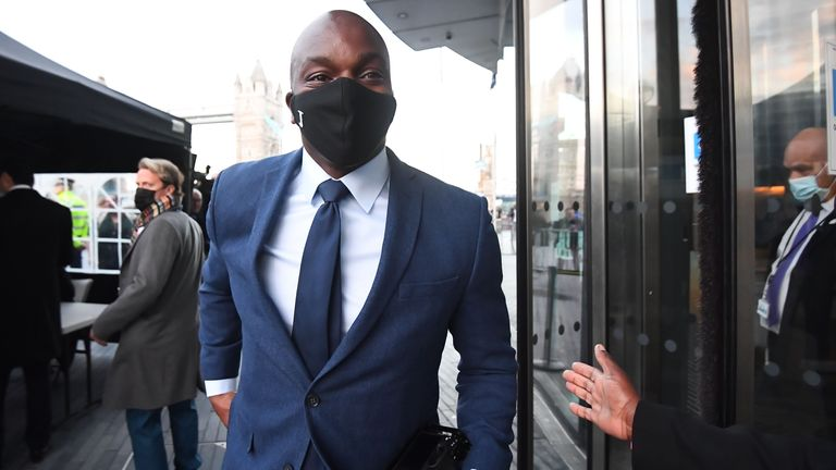 Conservative's Shaun Bailey arriving at City Hall, London, for the declaration for the next Mayor of London. Picture date: Saturday May 8, 2021.