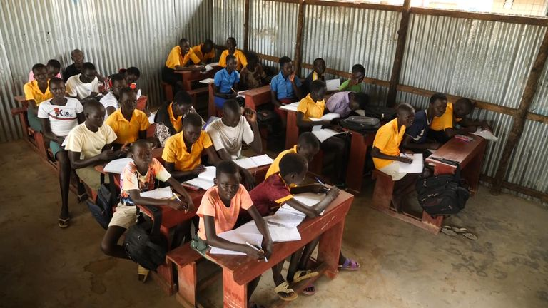No teaching aids or textbooks are available at the school