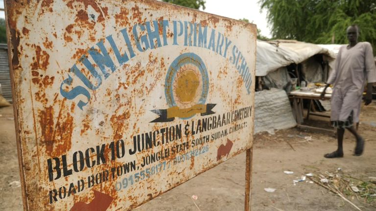 The school is in one of the poorest communities in South Sudan