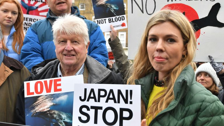 Stanley Johnson and Carrie Symonds