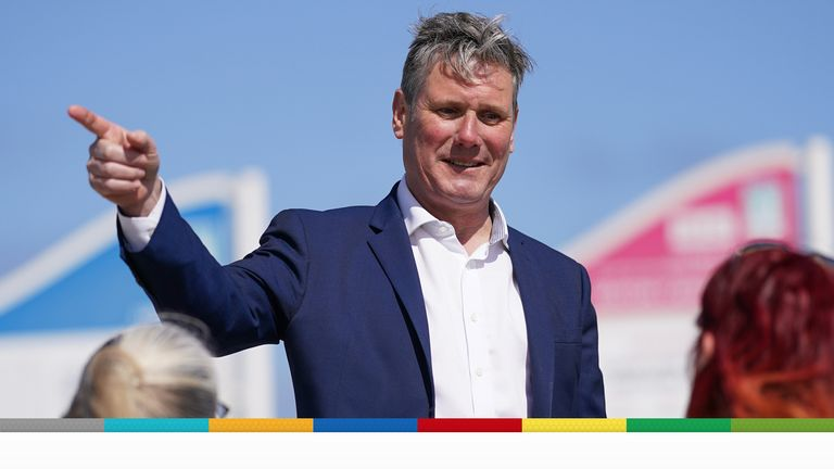 Labour leader Keir Starmer speaks with members of the public on a walkabout as he visits Seaton Carew seafront while on the election campaign trail. Picture date: Saturday May 1, 2021.Read less