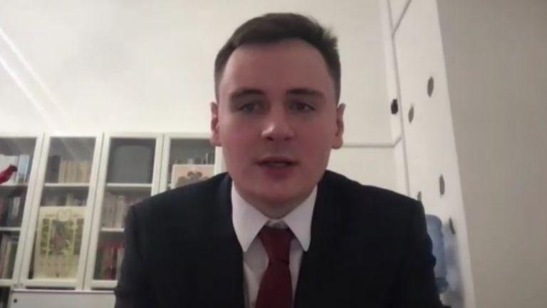 Stepan Putilo speaks to Sky News