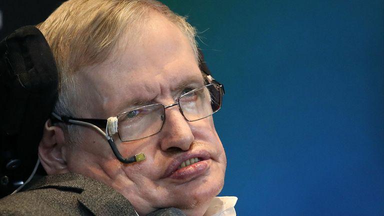 Professor Hawking died in 2018