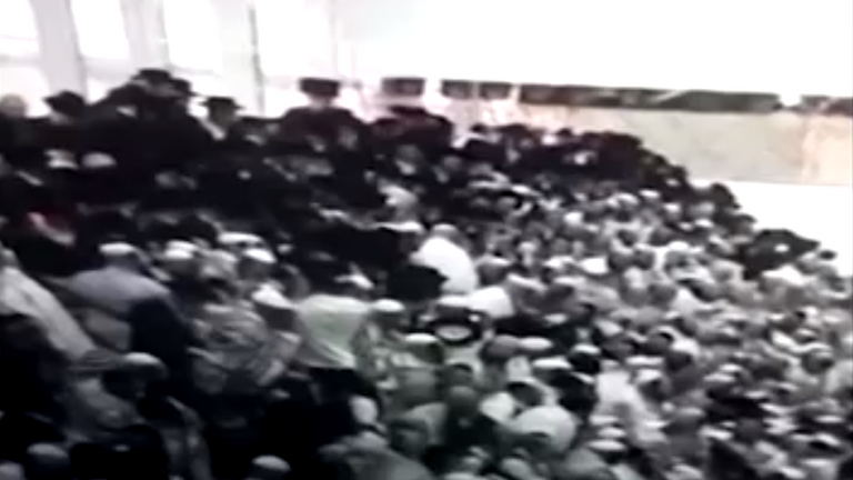 Footage from the scene shows the moment of the collapse
