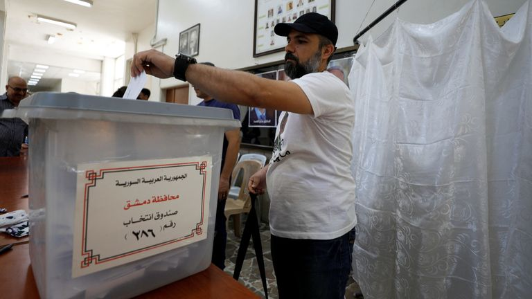 Syrian officials claimed voter turnout was nearly 80%