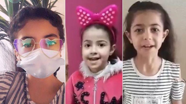 (L-R) Tala Ayman Abu al Auf, Rula Mohammad al Kawlak, and Yara Mohammad al Kawlak. Images: Family photos/DCIP/NRC