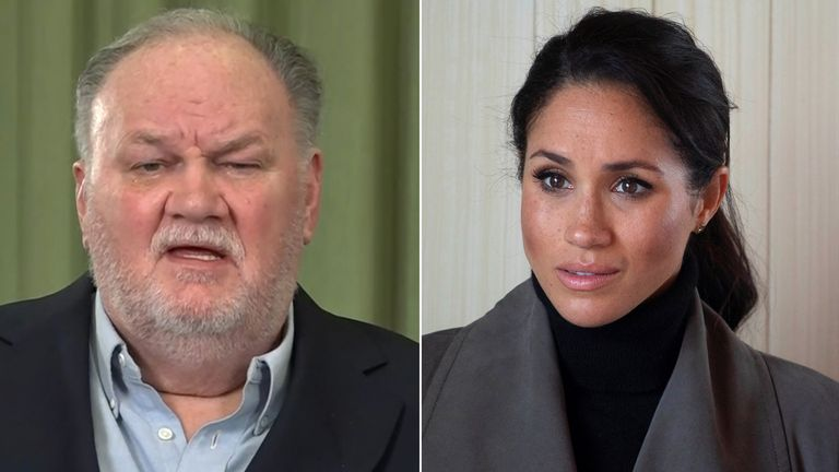 Thomas Markle and Meghan. Pics: ITV/Shutterstock/Reuters