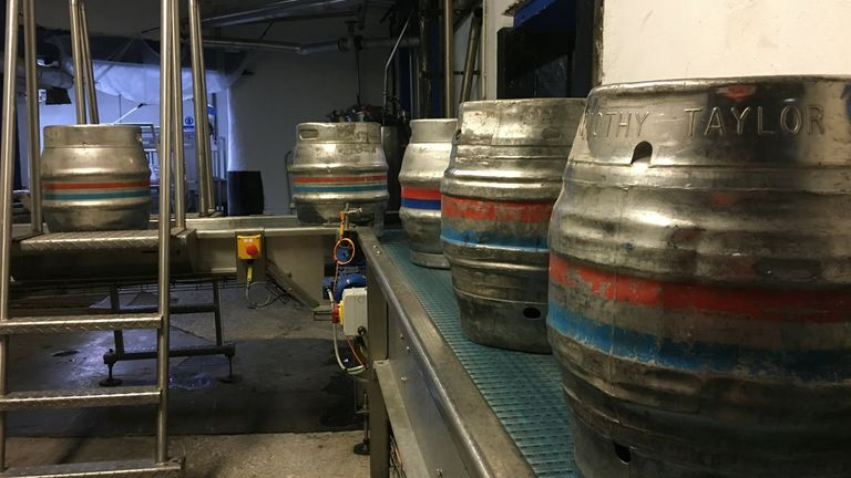 Inside the Timothy Taylor's brewery in Keighley