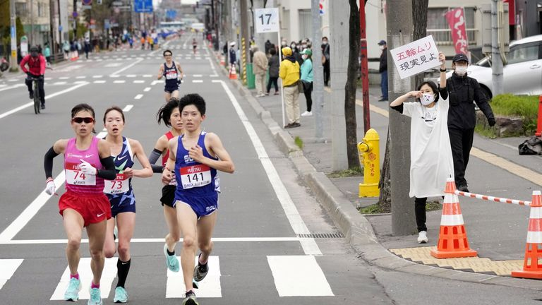 Hokkaido has been running test events for the Olympic marathon but recorded over 1,000 cases on Wednesday