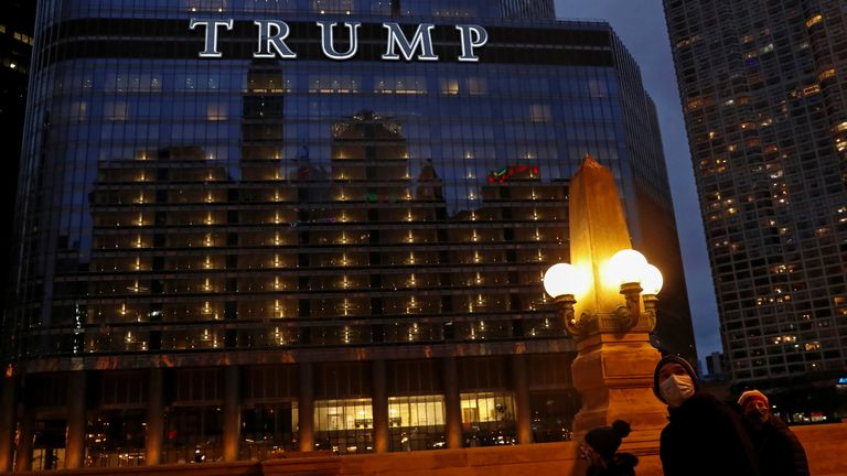 His hotel in Chicago is being probed in the criminal investigation, led by Ms James