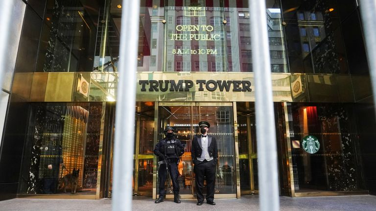 Trump Tower in New York City is one of Mr Trump's properties being investigated