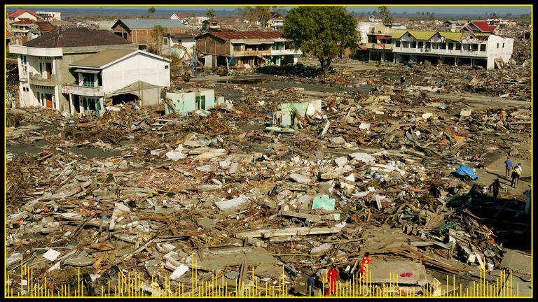شهر باندا آچه ، جایی که مارتونیس اهل آن است ، در اثر سونامی ویران شد