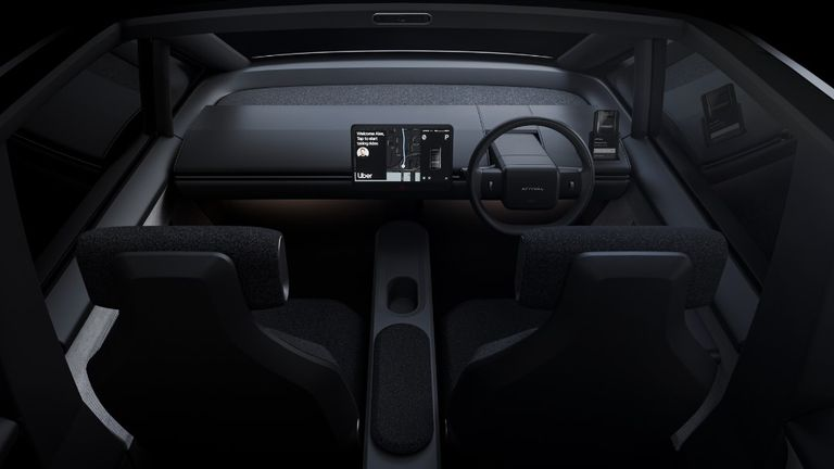 How the interior of the Arrival car might look. Pic: Uber/Arrival
