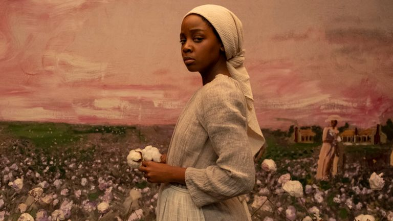 Thuso Mbedu as Cora Randall in The Underground Railroad. Pic: Amazon Studios