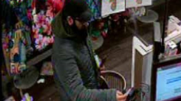 Usman Khan was seen on CCTV buying a bag a week before the attack