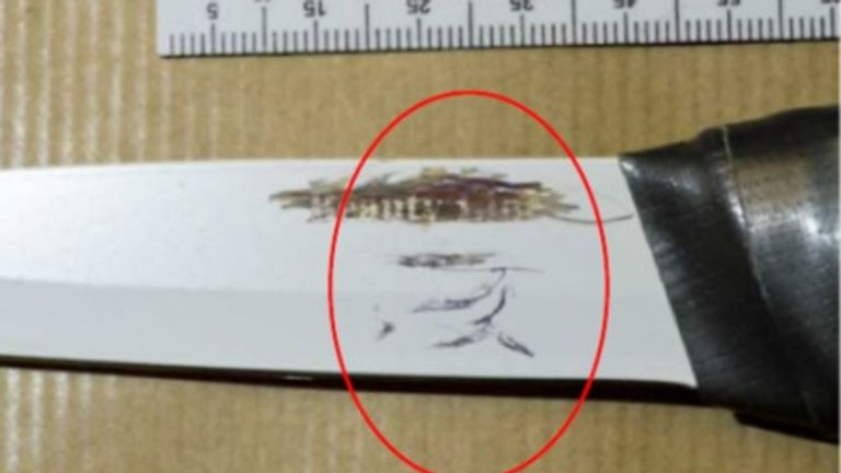 One of the knives used in Usman Khan's attack